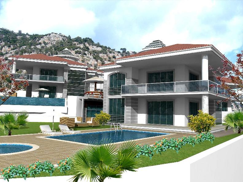 The Hillside community is a collection of luxurious detached villas set in a tranquil and secluded location set away from the main Gocek resort, surrounded by fragrant pine forest and lush gardens, ideal for those wanting to get away from it all. Hillside project will consist of 8 brand new luxury detached villas each with their own private swimming pool, set in own spacious grounds and providing a high degree of quality and comfort. Beautifully designed villas have 4 en-suite bedrooms.